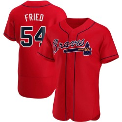 Max Fried Atlanta Braves Men's Authentic Alternate Jersey - Red