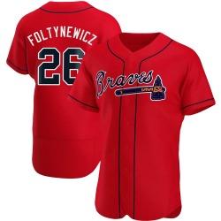 Mike Foltynewicz Atlanta Braves Men's Authentic Alternate Jersey - Red