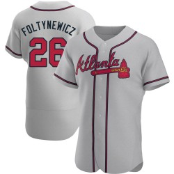Mike Foltynewicz Atlanta Braves Men's Authentic Road Jersey - Gray