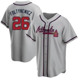 Mike Foltynewicz Atlanta Braves Men's Replica Road Jersey - Gray