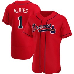 Ozzie Albies Atlanta Braves Men's Authentic Alternate Jersey - Red