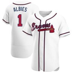 Ozzie Albies Atlanta Braves Men's Authentic Home Jersey - White