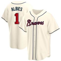 Ozzie Albies Atlanta Braves Men's Replica Alternate Jersey - Cream