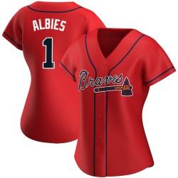 Ozzie Albies Atlanta Braves Women's Replica Alternate Jersey - Red
