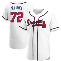 Patrick Weigel Atlanta Braves Men's Authentic Home Jersey - White