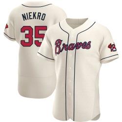 Phil Niekro Atlanta Braves Men's Authentic Alternate Jersey - Cream