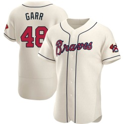 Ralph Garr Atlanta Braves Men's Authentic Alternate Jersey - Cream