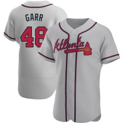 Ralph Garr Atlanta Braves Men's Authentic Road Jersey - Gray