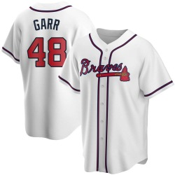Ralph Garr Atlanta Braves Men's Replica Home Jersey - White