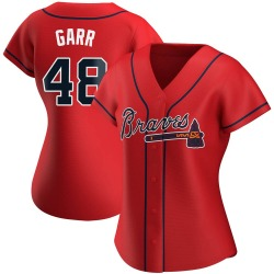 Ralph Garr Atlanta Braves Women's Replica Alternate Jersey - Red