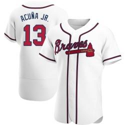 Ronald Acuna Atlanta Braves Men's Authentic Home Jersey - White