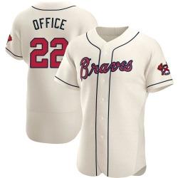 Rowland Office Atlanta Braves Men's Authentic Alternate Jersey - Cream