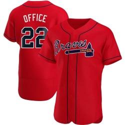 Rowland Office Atlanta Braves Men's Authentic Alternate Jersey - Red