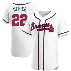 Rowland Office Atlanta Braves Men's Authentic Home Jersey - White