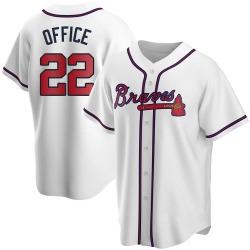 Rowland Office Atlanta Braves Men's Replica Home Jersey - White
