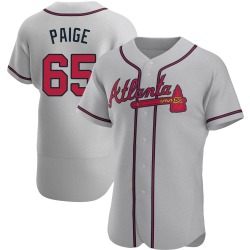 Satchel Paige Atlanta Braves Men's Authentic Road Jersey - Gray