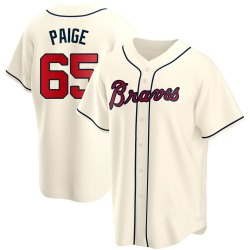 Satchel Paige Atlanta Braves Men's Replica Alternate Jersey - Cream