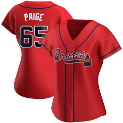 Satchel Paige Atlanta Braves Women's Replica Alternate Jersey - Red