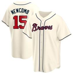 Sean Newcomb Atlanta Braves Youth Replica Alternate Jersey - Cream