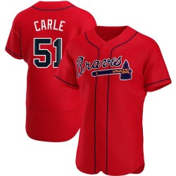 Shane Carle Atlanta Braves Men's Authentic Alternate Jersey - Red
