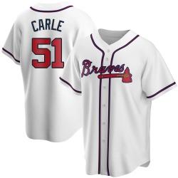 Shane Carle Atlanta Braves Men's Replica Home Jersey - White