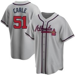 Shane Carle Atlanta Braves Youth Replica Road Jersey - Gray