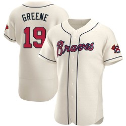 Shane Greene Atlanta Braves Men's Authentic Cream Alternate Jersey - Green