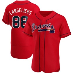 Shea Langeliers Atlanta Braves Men's Authentic Alternate Jersey - Red