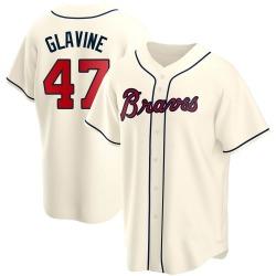 Tom Glavine Atlanta Braves Men's Replica Alternate Jersey - Cream