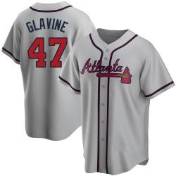 Tom Glavine Atlanta Braves Men's Replica Road Jersey - Gray
