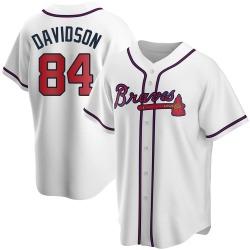 Tucker Davidson Atlanta Braves Men's Replica Home Jersey - White