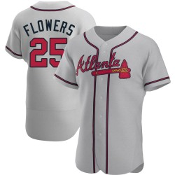 Tyler Flowers Atlanta Braves Men's Authentic Road Jersey - Gray