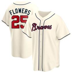 Tyler Flowers Atlanta Braves Men's Replica Alternate Jersey - Cream