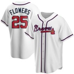 Tyler Flowers Atlanta Braves Men's Replica Home Jersey - White