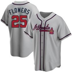 Tyler Flowers Atlanta Braves Men's Replica Road Jersey - Gray