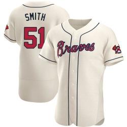 Will Smith Atlanta Braves Men's Authentic Alternate Jersey - Cream
