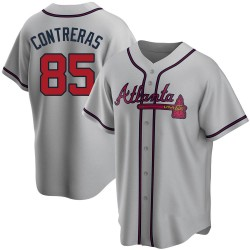 William Contreras Atlanta Braves Youth Replica Road Jersey - Gray